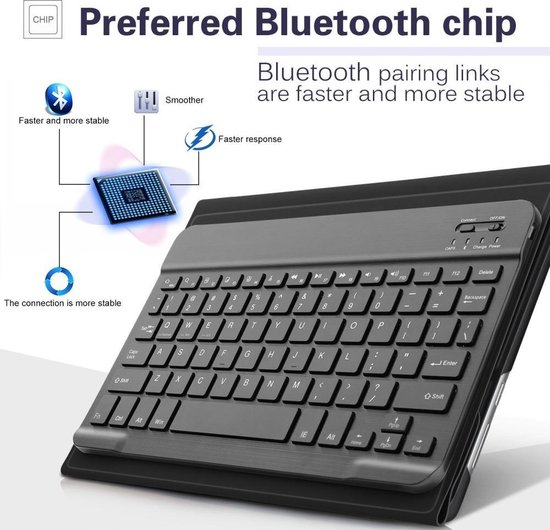 Huawei Mediapad M3 Lite 10 Bluetooth Keyboard Cover - zwart - Knaldeals.com