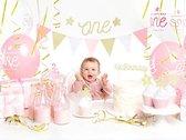Taarttopper 1st birthday - eerste verjaardag - goud glitter