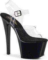 Pleaser Sandaal met enkelband -36 Shoes- SKY-308 US 6 Zwart