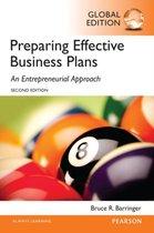 Boek cover Barringer: Preparing Effective Business Plans van Bruce Barringer