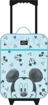MICKEY MOUSE Go For It Trolley Koffer Handbagage Vakantie Tripjes Logeren Kinderkoffer