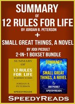 Omslag Summary of 12 Rules for Life: An Antidote to Chaos by Jordan B. Peterson + Summary of Small Great Things, A Novel by Jodi Picoult 2-in-1 Boxset Bundle
