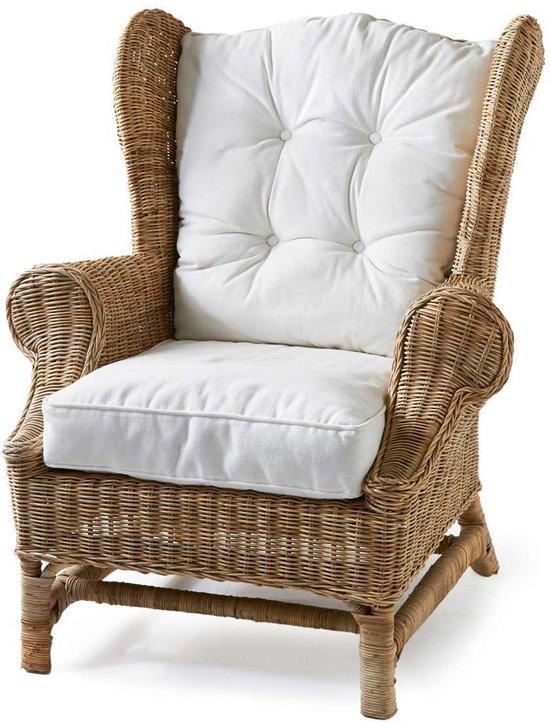 Verwonderlijk bol.com | Rivièra Maison Nicolas Wing Chair - Fauteuil - Wit GP-34