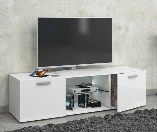 Zelfbouw Tv Kast.Bol Com Tv Meubel Kast Lowina 115 Cm Premium Hoogglans Wit