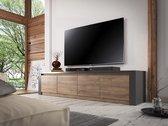 Meubella TV-Meubel Monaco - Grijs - Eiken - 4 deuren - 170 cm