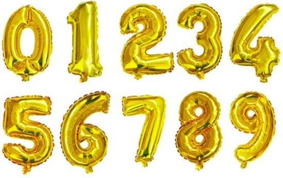 XL Folie Ballon (4) - Helium Ballonnen – Folie ballonen - Verjaardag - Speciale Gelegenheid  -  Feestje – Leeftijd Balonnen – Babyshower – Kinderfeestje - Cijfers - Goud