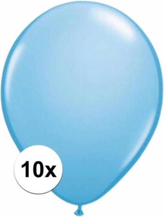 Lichtblauwe ballonnen 10 stuks