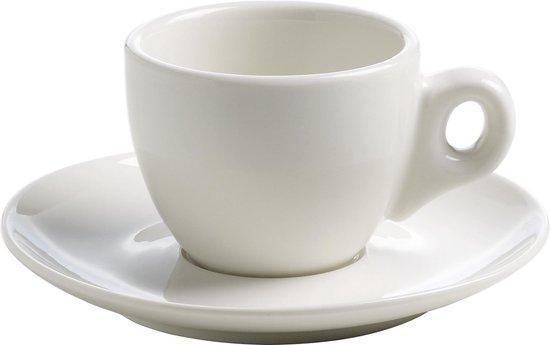 Maxwell & Williams White Basics Round - Espresso Kop en Schotel - 70 ml