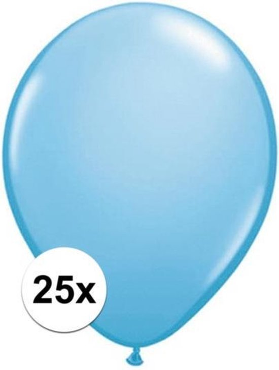 Qualatex ballonnen baby blauw 25 stuks