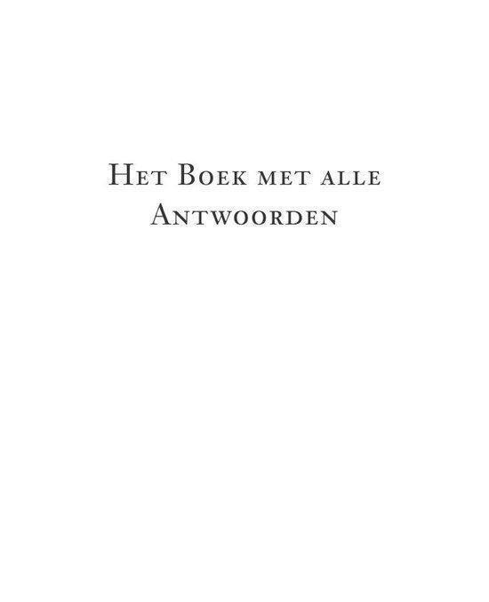 Het boek met alle antwoorden - mini