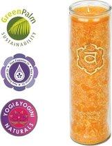 Geurkaars - stearine - 2e chakra - oranje - 100 uur - ceder & zilverspar & rozemarijn