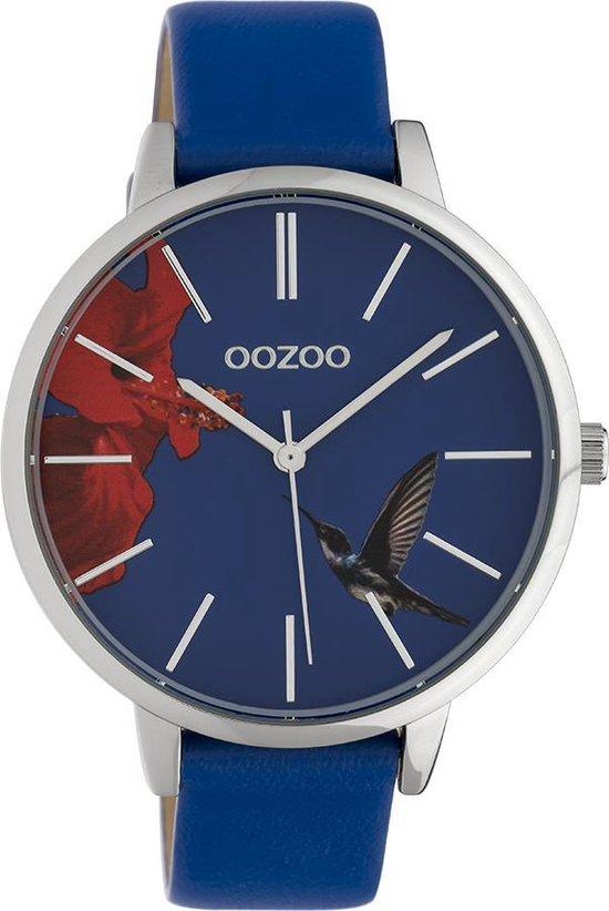 OOZOO Timepieces C10184 Donkerblauw Zilverkleurig Horloge 42mm