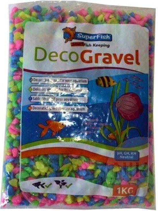 Deco grind neon mix kleur 1 kg