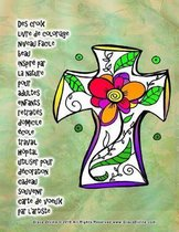 Des croix livre de coloriage niveau facile beau inspir par la nature pour adultes enfants retrait s domicile cole travail h pital utiliser pour d coration cadeau souvenir carte de voeux par l'artiste Grace Divine