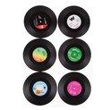 LP Vinyl Onderzetters - 6 stuks