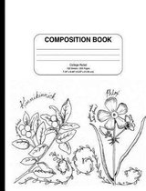 Composition Notebook with Vintage Flowers (Wide Ruled)