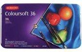 Derwent Coloursoft Potloden in blik 36 stuks