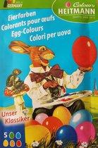 Eierverf tabletten 5 kleuren in zakje - Ei kleuren - Pasen