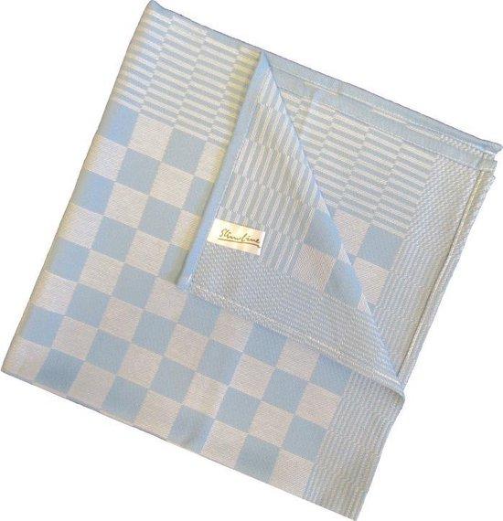 Kitchen-Line Blok Theedoek (6 Stuks) - 65x65 cm - Blauw