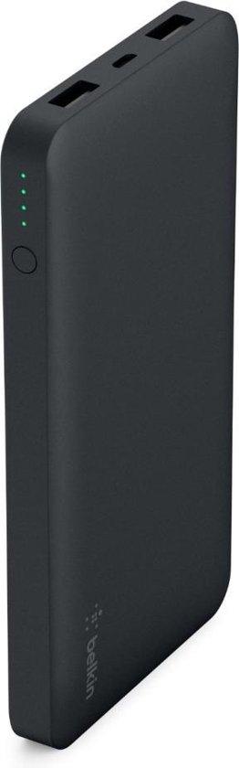 Afbeelding van Belkin powerbank met Micro USB oplaad kabel - 10.000 mAh - Zwart