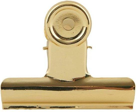 Monograph clips 85mm goud 8 stuks