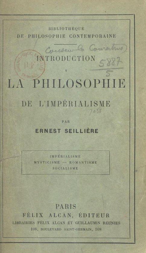 Introduction à la philosophie de l'impérialisme
