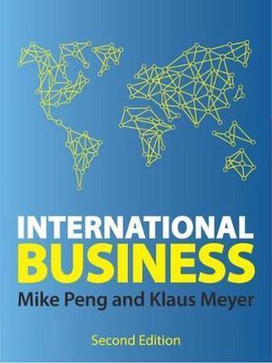 Boek cover INTERNATIONAL BUSINESS van Mike W. Peng (Paperback)