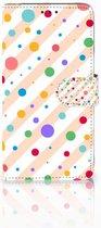 Samsung Galaxy A9 2018 Wallet Bookcase Hoesje Design Dots