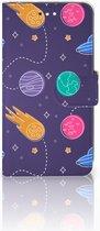 Motorola Moto C Plus Uniek Wallet Book Case Hoesje Space