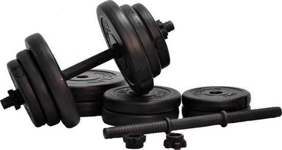 Verstelbare Dumbbellset Focus Fitness - Totaal: 20 kg - 2 x 10 kg