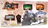 Speelgoed stoomtrein -  CHoo CHoo trein geluid | Rail Baan 103x78CM - TRAIN KING (inclusief batterijen)