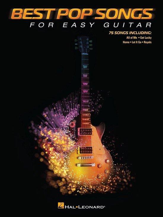 Boek cover Best Pop Songs for Easy Guitar van Hal Leonard Corp. (Hardcover)