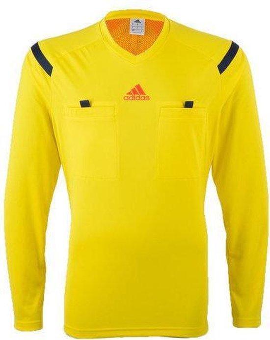 Adidas Scheidsrechter 14 Longsleeve Shirt Heren - Medium - Geel