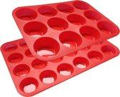 Siliconen muffin bakvorm set (24 & 12 stuks) - muffinvorm - bakvormen - bakvormpjes - cakevorm - cupcake versieren en meer!