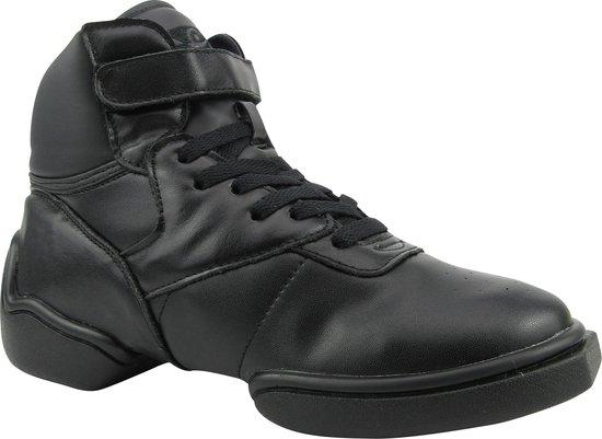 Rumpf 1500 High Top Sneaker Leather upper black Jazz Street Hip Hop Zwart Maat 36, UK 3.5