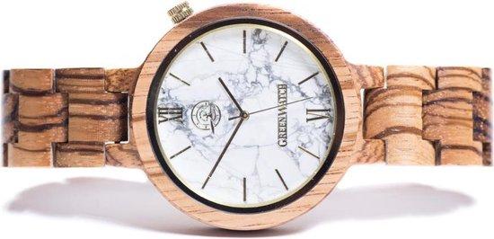 Greenwatch Marble Zebra | Houten Horloge Heren & Dames