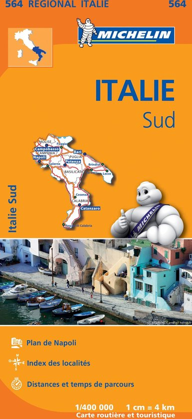 Michelin Regionaal kaart 564 Italie Sud - Zuid-Italië - none |