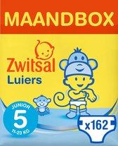 Zwitsal Luiers Junior - Maat 5 - 162 stuks - Voordeelverpakking