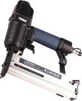 FERM ATM1051 Pneumatische spijker- en nietpistool - combitacker - spijkers (15-50mm) - nieten (16-40mm) - Incl. spijkers, nieten en koffer