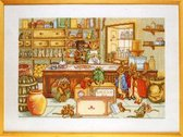 borduurpakket 70-3405 beatrix potter, peter rabbit's shop
