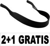 Fako Bijoux® - Brillenkoord - Neopreen - Zwart - 2+1 Gratis