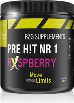 BZGsupplements - Pre Hit NR1 - Pre workout - 300 gram - Raspberry