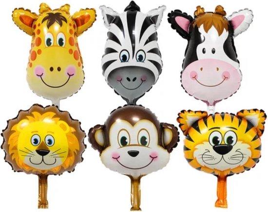 Set van 6 folie Ballonnen | Dieren | Party Ballonnen | Verjaardag Ballonnen