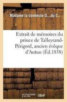 Extrait de memoires du prince de Talleyrand-Perigord