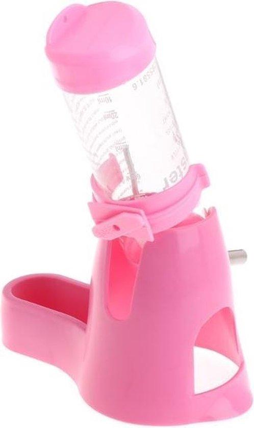 Drinkfles knaagdieren kogelsysteem 120ml roze - WorldPet