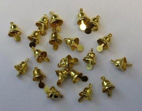 Klokjes goudkleur 8 milimeter 20 Stuks 1 Pak