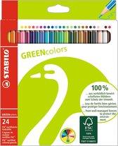 Afbeelding van STABILO GREENcolors Kleurpotloden - Etui 24 stuks