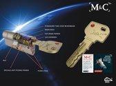 1x M&C Condor cilinder SKG*** cilindertrekbeveiliging F1/nikkel 3 sleutels