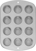 Wilton | Recipe Right®| Muffin Bakvorm | 12 cupcakes | Ø 5 cm - Grijs