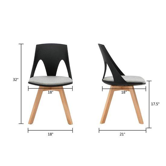 Woonkamer Eetkamer Set.Bol Com Baymate Set Van 2 Lounge Chair Eetkamerstoelen Plastic